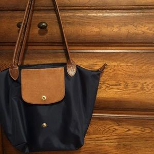 Navy medium Longchamp tote handbag